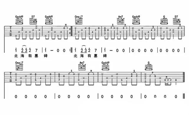 南山南吉他谱 马頔  南山南G调民谣吉他六线谱简单版3